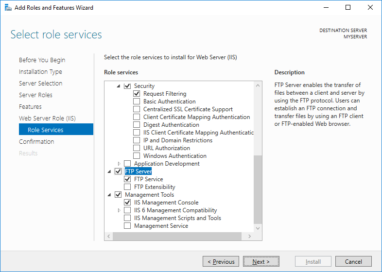 Windows Server Administration/Roles and Features