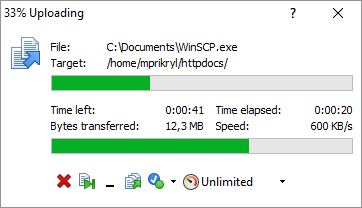 Progress Window :: WinSCP